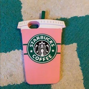 An I phone 6s Starbucks phone case